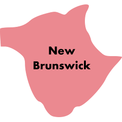 Image of Canada region New Brunswick