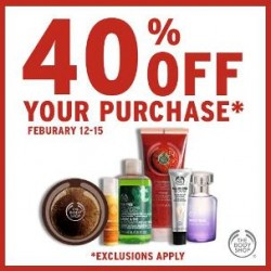 Coupon for: The Body Shop - 40% Off your purchase