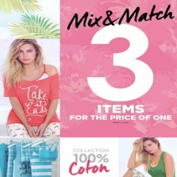 Coupon for: Hearthland Town Centre - La Vie En Rose Outlet - 3 cotton items for the price of one
