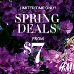 Coupon for: H&M SPRING DEALS STARTING FROM $7 ARE BACK!