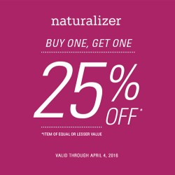 Coupon for: Naturalizer  –  BOGO EVENT