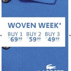 Coupon for: CROSSIRON MILLS - Lacoste outlet - IT'S WOVEN WEEK!
