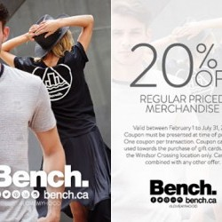 Coupon for: Windsor Crossing Premium Outlet - Bench - 20% OFF