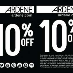 Coupon for: Ardene at Windsor Crossing Premium Outlet - 10% OFF ENTIRE PURCHASE