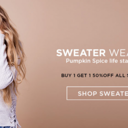 Coupon for: Dixie outlet mall - Bluenotes - Buy 1 Get 1 50% OFF Sweaters