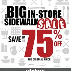 Coupon for: Canada One Factory Outlets - OUR BIG IN-STORE SIDEWALK SALE at Stokes