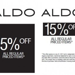 Coupon for: Windsor Crossing Premium Outlets - Aldo - Special sale 15% OFF