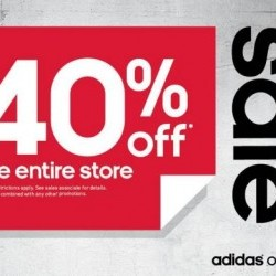 Coupon for: King's Crossing Fashion Outlets - Adidas Flash sale 40% off in-store.