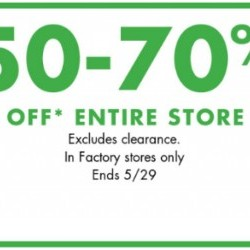 Coupon for: Fashion Outlets Niagara Falls - BANANA REPUBLIC FACTORY STORE - 50-70% Off Everything