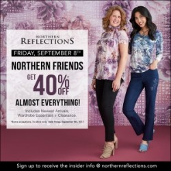 Coupon for: Halifax Shopping Centre - ONE DAY ONLY... Enjoy 40% off at Northern Reflections!