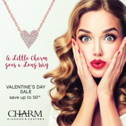 Coupon for: Midtown Plaza - CHARM DIAMOND CENTRES - VALENTINE'S DAY PROMOTION