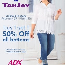 Coupon for: The Village Shopping Centre - Tan Jay is having their Bottom BOGO Event!! at Alia N TanJay