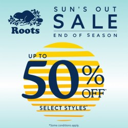 Coupon for: Midtown Plaza - SUN'S OUT SALE! at Roots