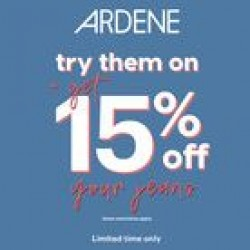 Coupon for: CF Champlain - TRY THEM ON AND GET 15% OFF YOUR JEANS AT ARDENE