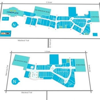 Link to CF Chinook Centre outlet mall plan
