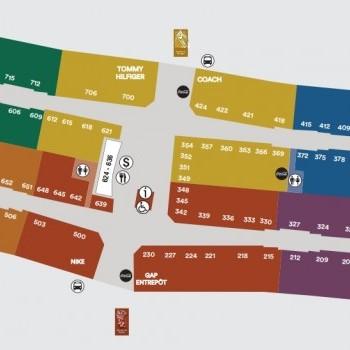 Link to Premium Outlets Montréal outlet mall plan